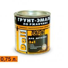 Грунт-эмаль по ржавчине 3 в 1 гладкая DALI® 0,75 л.