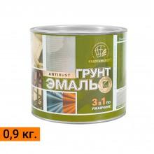 """Грунт-эмаль по ржавчине 3 в 1 ТМ """"РадугаМалер"""" 0,9 кг."""