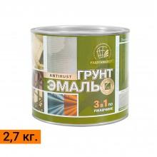 """Грунт-эмаль по ржавчине 3 в 1 ТМ """"РадугаМалер"""" 2,7 кг."""